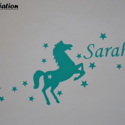 Stickers cheval et prénom