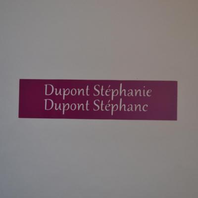 Stickers noms boites aux lettres -modèle étiquette