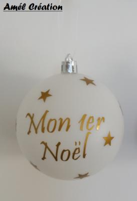 Stickers mon premier Noël + prénom + étoiles