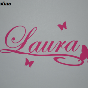 Sticker papillon et prenom