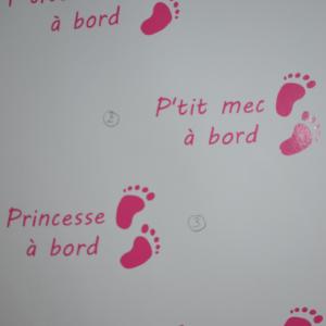 Sticker pied bebe a bord