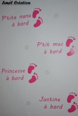 Stickers bébé à bord - pied du même coté