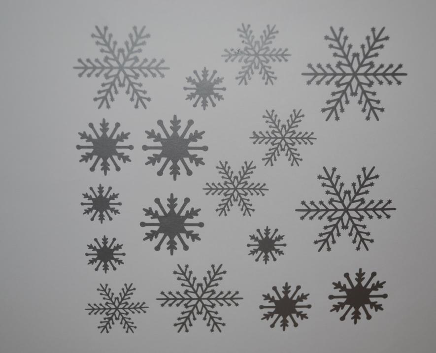 Sticker planche flocons de neige