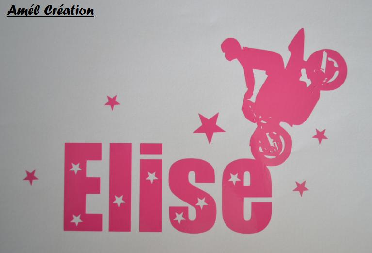 Sticker prenom et moto
