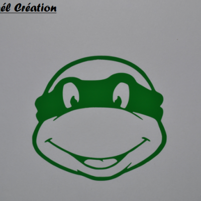 Stickers tête tortue ninja