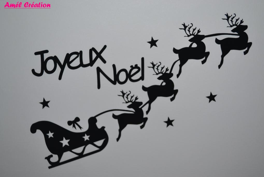 Sticker traineau joyeix noel