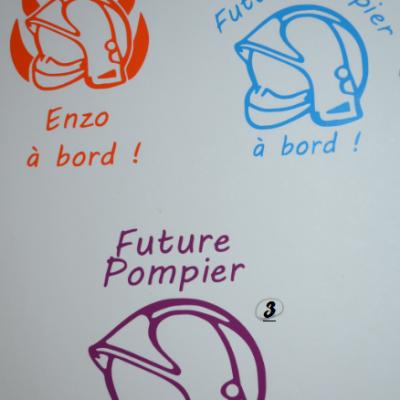 Stickers bébé à bord - POMPIER