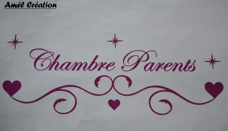 Stickers chambre des parents