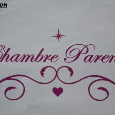 Stickers chambre parents