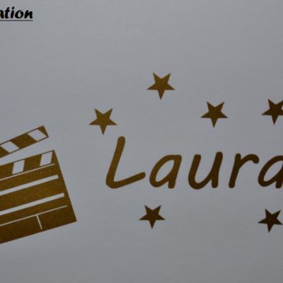 Stickers cinéma et prénom