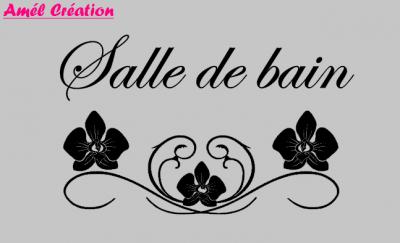 Stickers Salle de bain - orchidée
