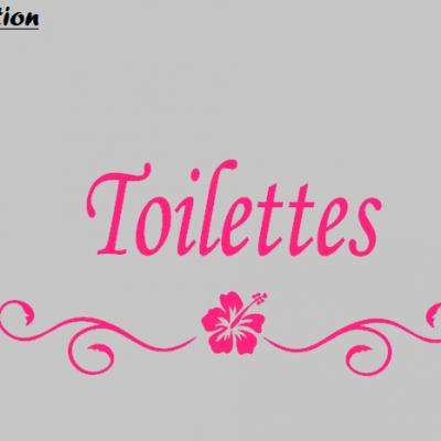 Stickers Toilettes - hibiscus
