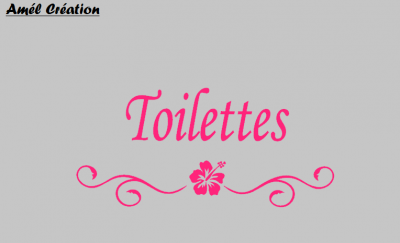 Stickers Toilettes - hibiscus