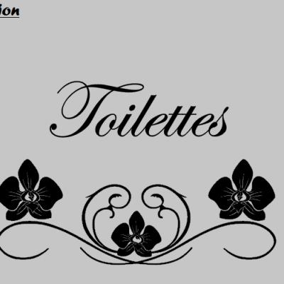 Stickers Toilettes - orchidée