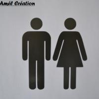 Stickers wc homme femme classique