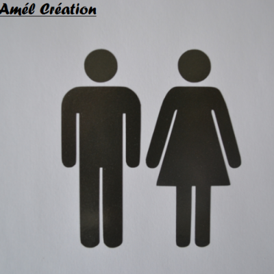 Stickers Toilettes - homme femme