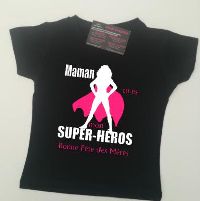 Tee shirt MC - Super héros femme