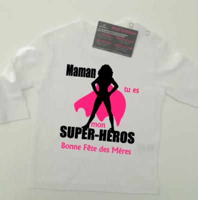 Tee shirt ML - Super héros femme