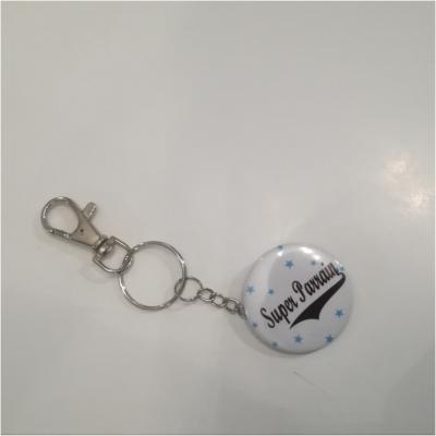 Porte clé badge super parrain