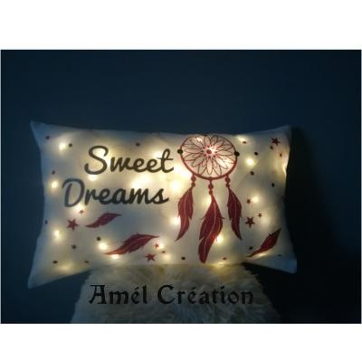Coussin LUMINEUX - sweet dreams - 40x40 ou 50x30