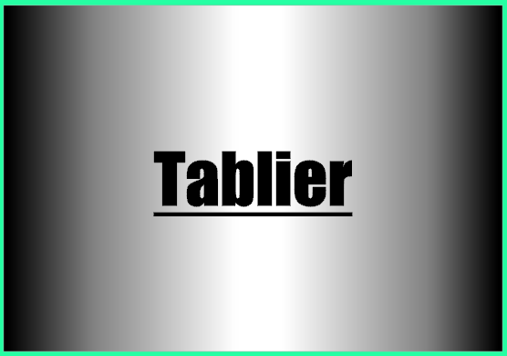 Tablier 1