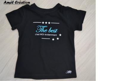 Tee shirt enfant MC - The best c'est moi évidemment