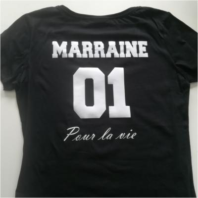 Tee shirt MC femme - Texte + numéro + pour la vie
