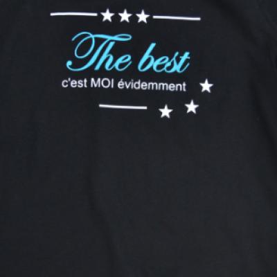 Tee shirt MC femme - The best c'est moi évidemment