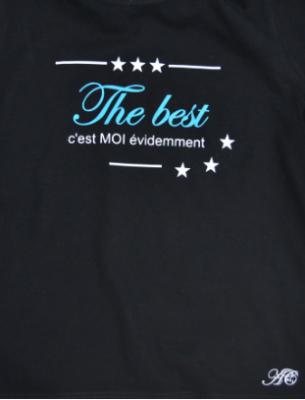 Tee shirt MC - The best c'est moi évidemment