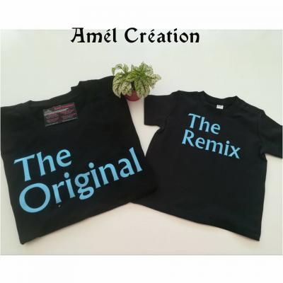 Ensemble TEE SHIRT OU BODY - the original the remix