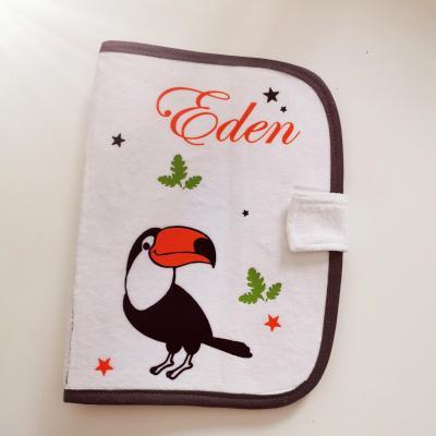 Protège carnet de santé gris ou rose ou bleu - Modèle toucan
