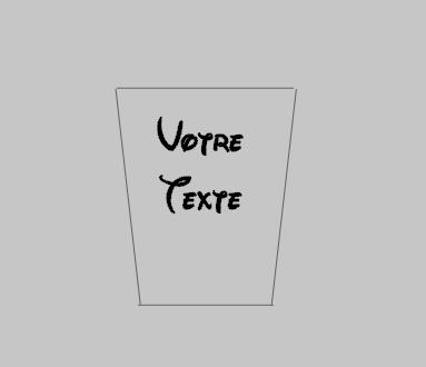 Sticker pour mug avec votre texte